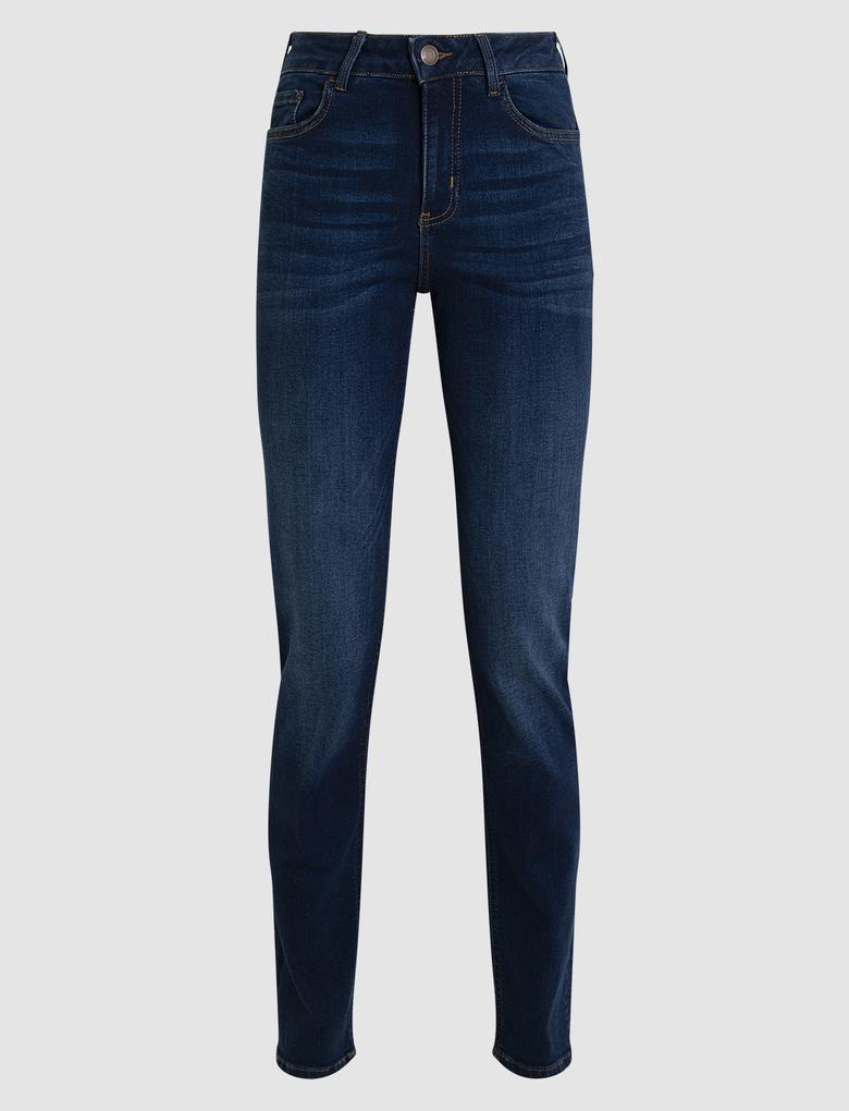 Kadın Lacivert Straight Fit Pantolon