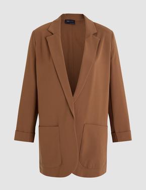 Kadın Kahverengi Cepli Ceket