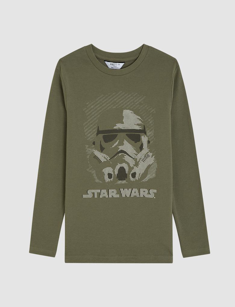 Erkek Çocuk Multi Renk StarWars™ Uzun Kollu T-Shirt