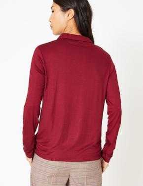 Uzun Kollu Merserize Gömlek