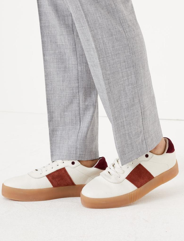 Kadın Gri Straight Leg Pantolon