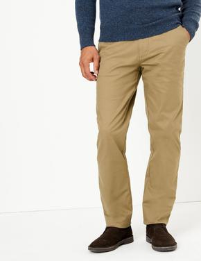 Erkek Krem Blue Harbour Premium Regular Fit Chino Pantolon