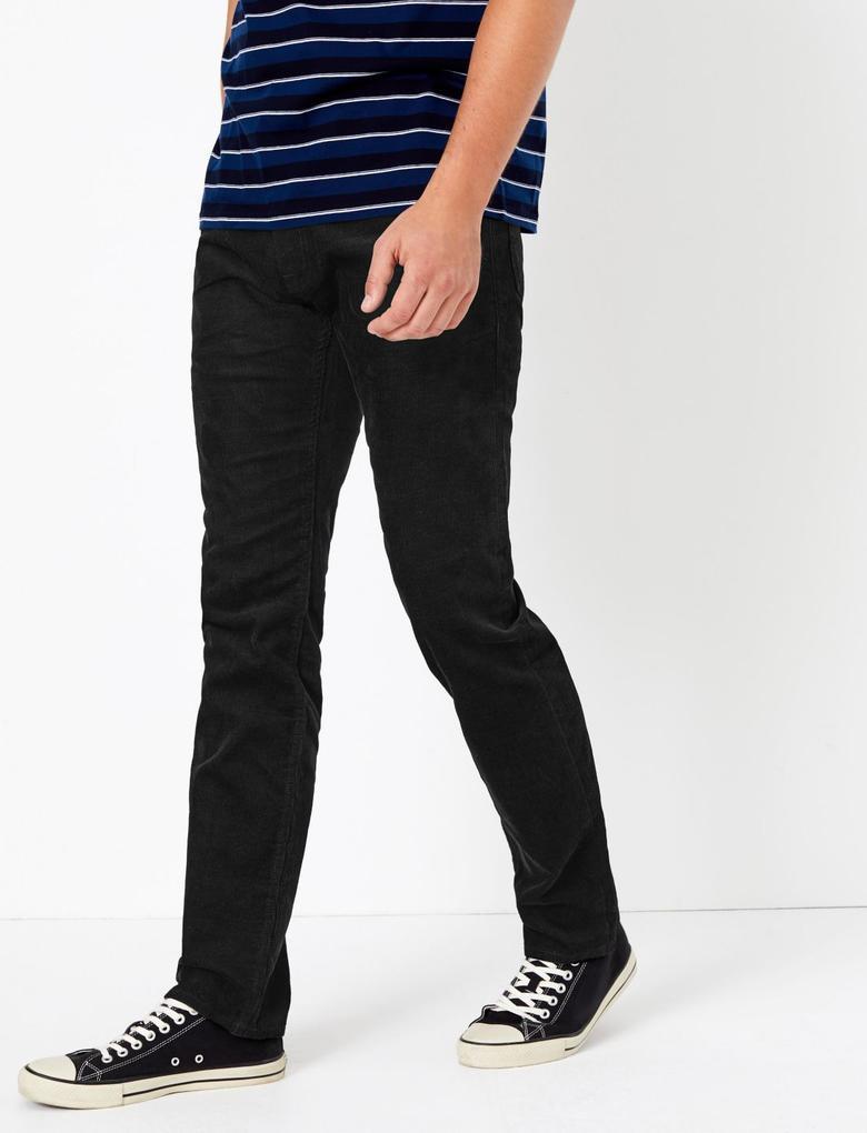 Slim Fit Kadife Pantolon