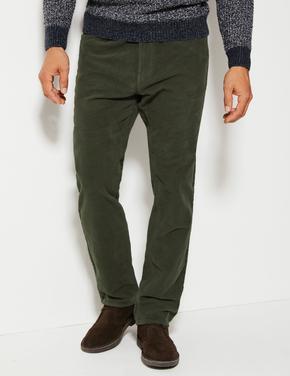 Regular Fit Italian Moleskin Pantolon