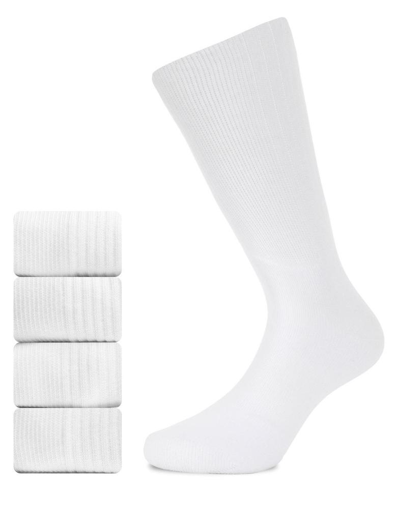 Erkek Beyaz 5'li Spor Çorabı Seti