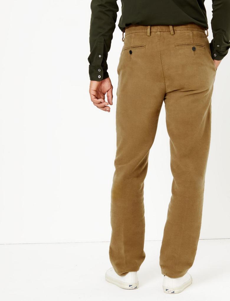 Kadife Görünümlü Chino Pantolon