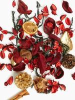 Ev Kırmızı Mandalina, Tarçın ve Karanfil Kokulu Potpori