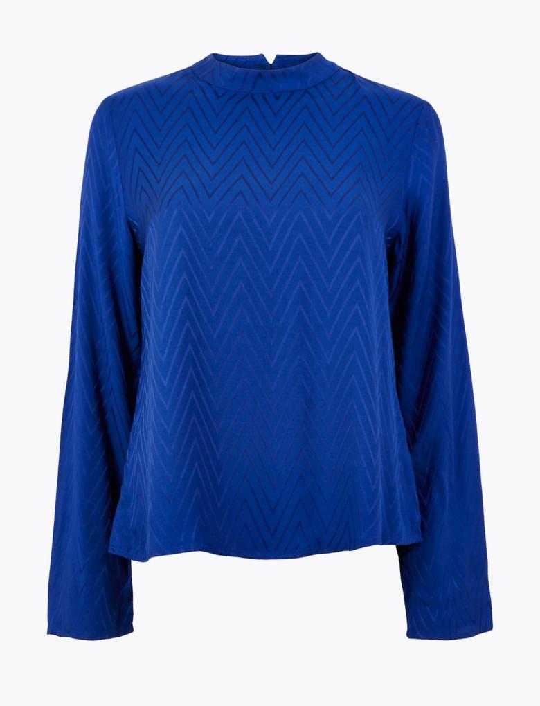 Balıksırtı Desenli Bluz