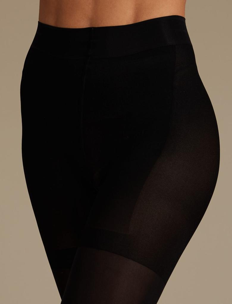 Kadın Siyah Yüksek Sıkılıkta Magicwear™ Külotlu Çorap