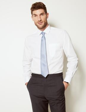 3'lü Pamuk Karışımlı Tailored Fit Gömlek