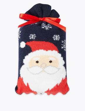 Santa Desenli Çorap