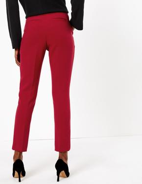 Kırmızı Yüksek Belli Pantolon