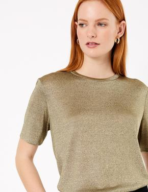 Parıltılı Relaxed Fit T-Shirt