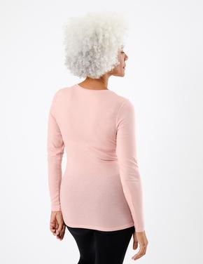 Kadın Pembe Heatgen™ Uzun Kollu Termal Atlet