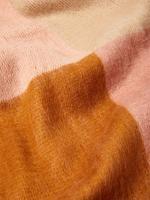 Renk Bloklu Atkı ve Eldiven Seti