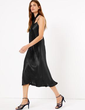 Slip Midi Elbise