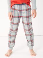 Erkek Çocuk Gri 2'li Ekose Pijama Seti