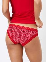 Kadın Kırmızı Yılbaşı Temalı Bikini Külot