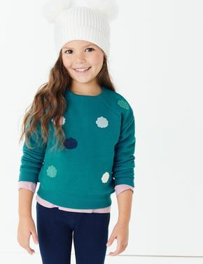 Ponpon İşlemeli Sweatshirt