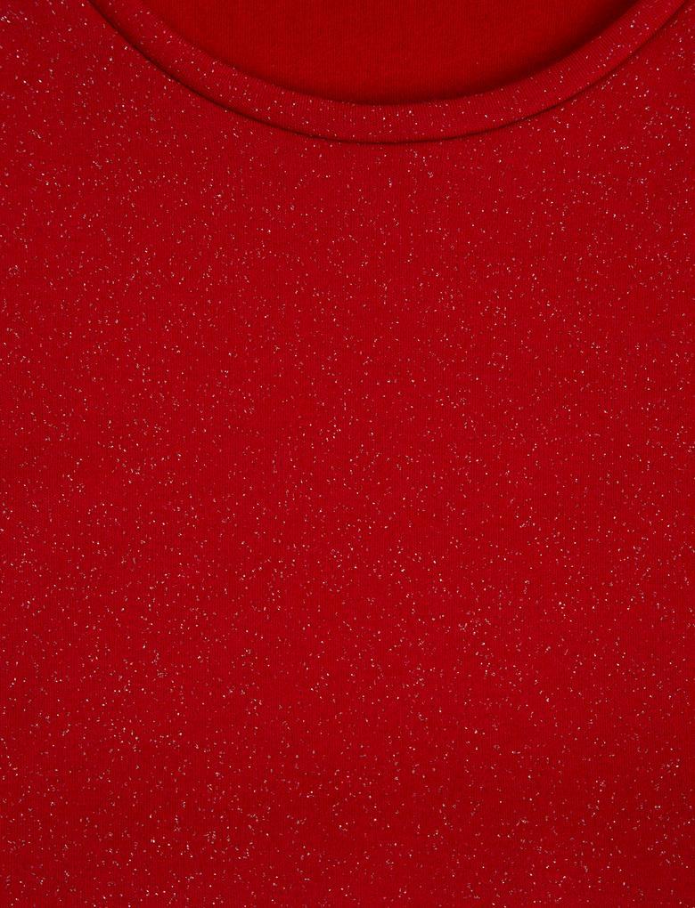 Kadın Kırmızı Heatgen Plus™ Termal Uzun Kollu Pırıltılı Atlet