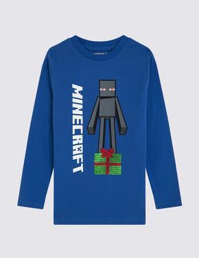 Minecraft™ Uzun Kollu T-Shirt
