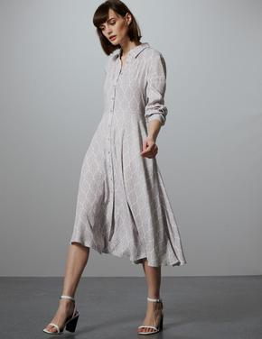 Desenli Gömlek Elbise