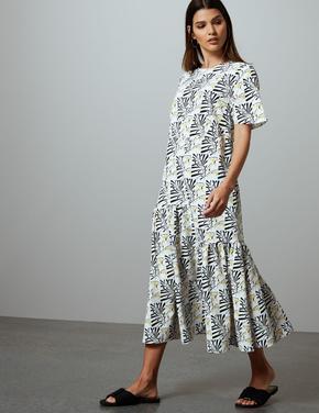 Krem Midi Elbise