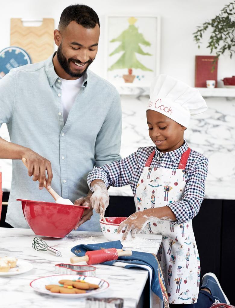Ev Multi Renk Desenli Çocuk Mutfak Önlüğü Seti