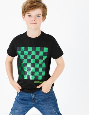 Erkek Çocuk Multi Renk Minecraft™ Pullu T-Shirt