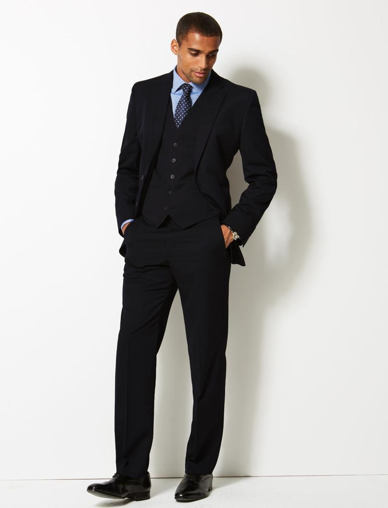 Lacivert Regular Fit Takım Elbise Yeleği