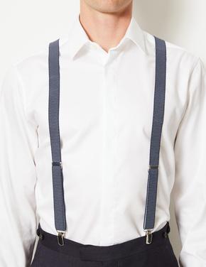 Mavi Puantiyeli Ayarlanabilir Pantolon Askısı