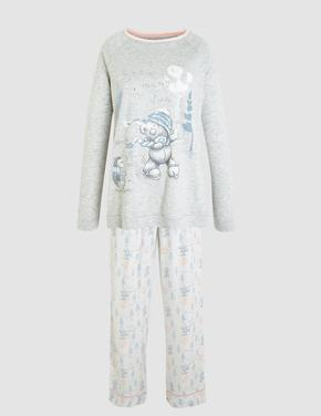 Gri Tatty Teddy™ Uzun Kollu Pijama Takımı