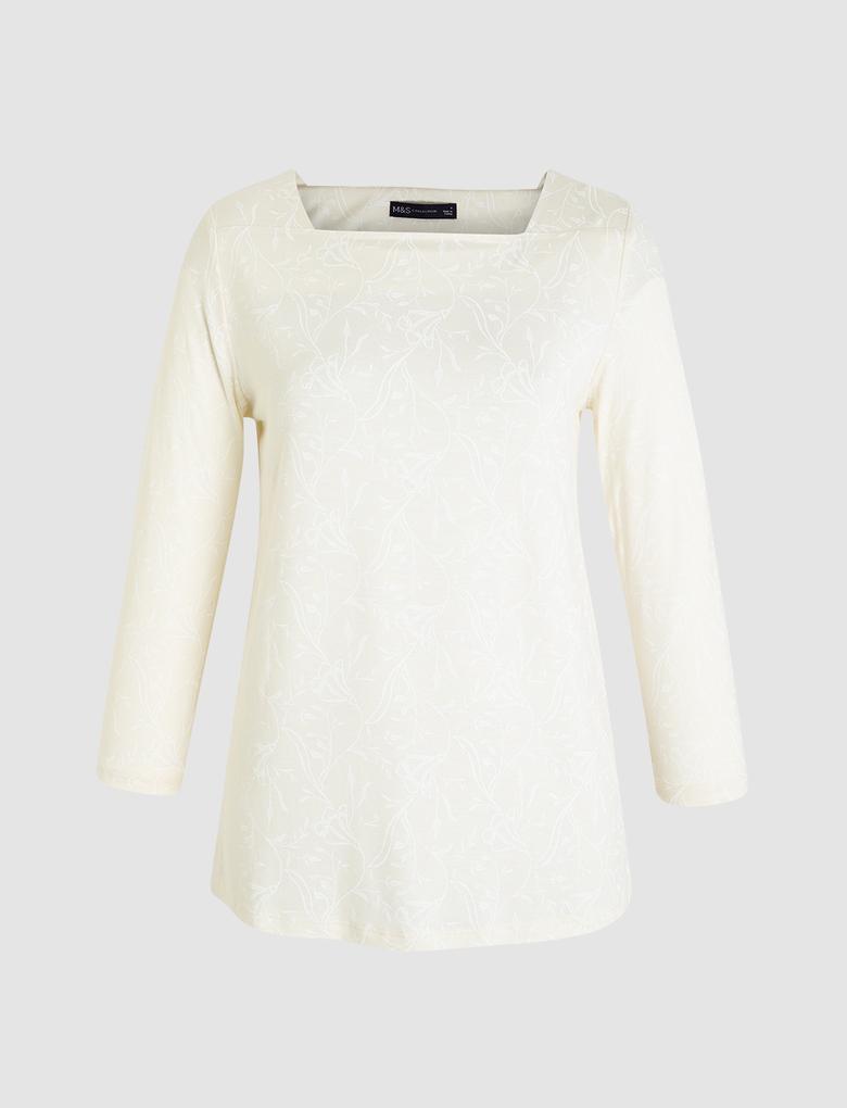 Kare Yaka T-Shirt