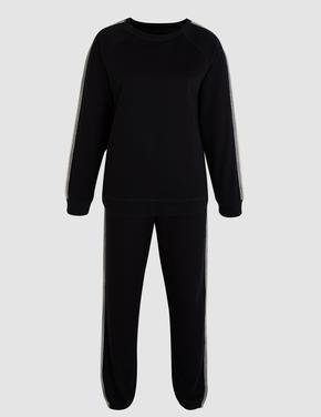 Yanları Şeritli Pijama Takımı