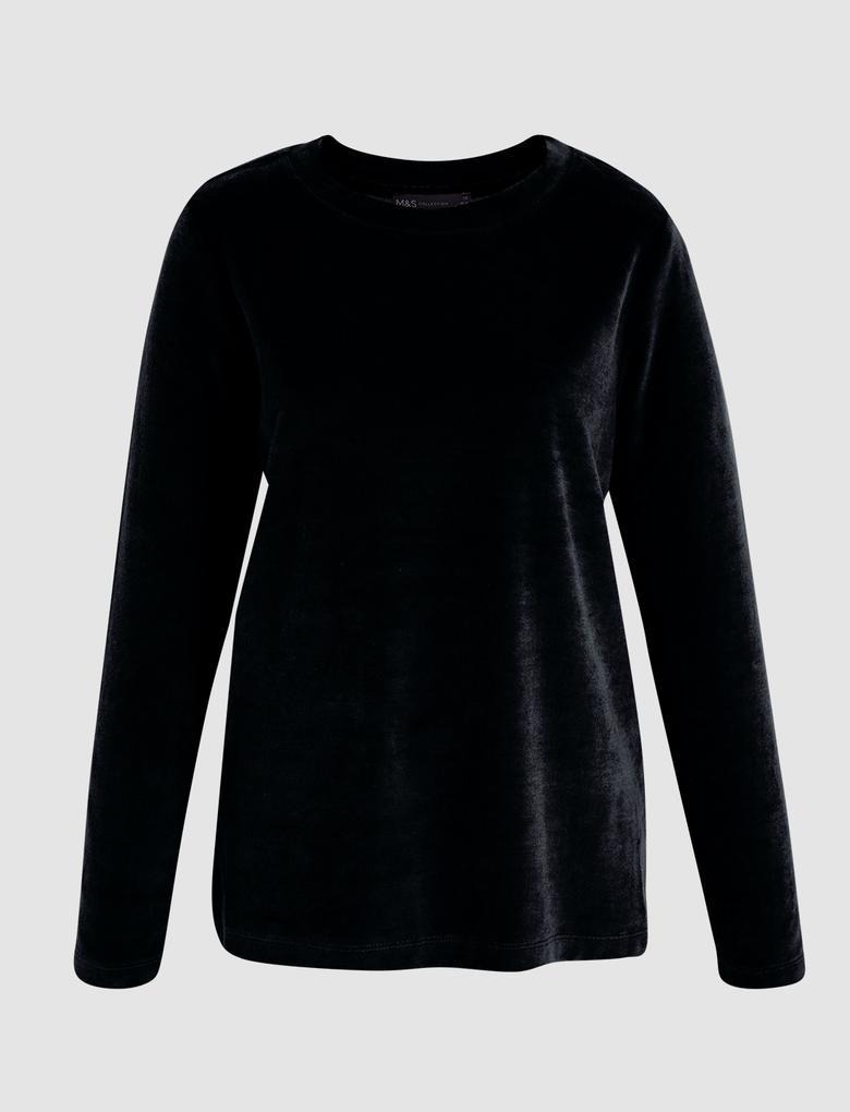 Kadın Siyah Uzun Kollu T-Shirt