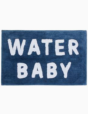 Ev Mavi Sloganlı Banyo Paspası