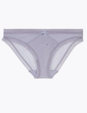 Kadın Pembe Pırıltılı Bikini Külot