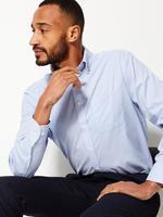 Mavi Kolay Ütülenebilir Regular Fit Oxford Gömlek
