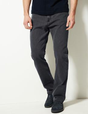Gri Regular Fit Streç Jean Pantolon (Stormwear™ Teknolojisi ile)