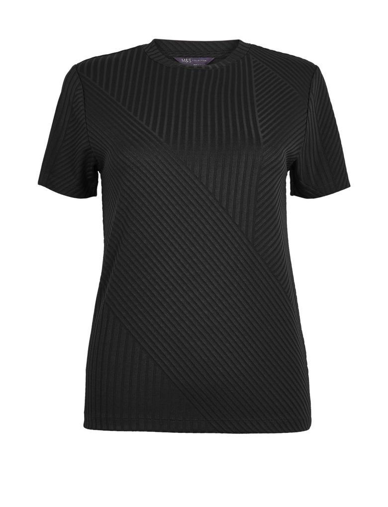 Yuvarlak Yaka Fitilli T-Shirt