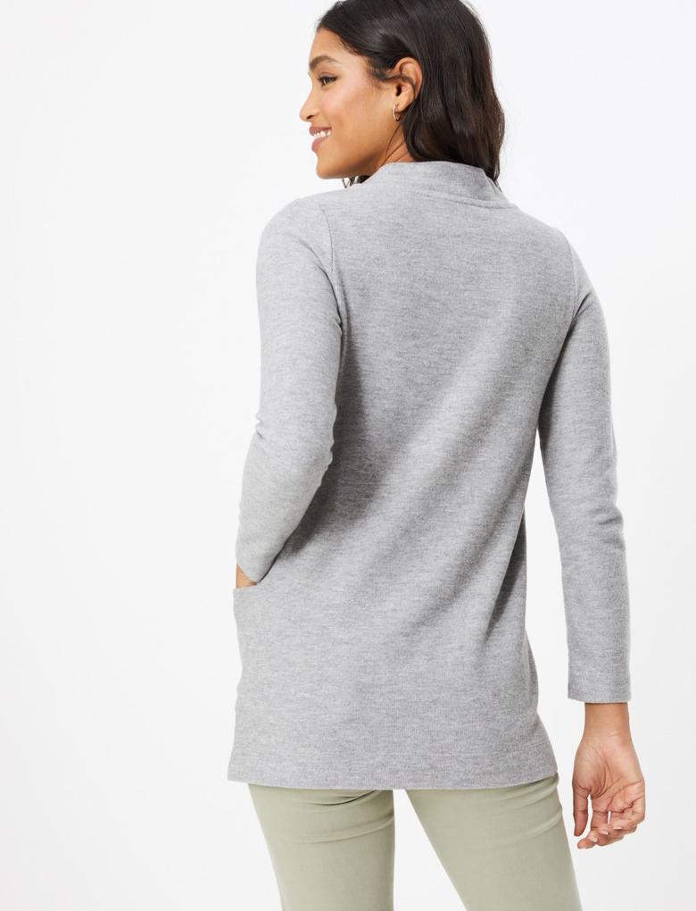Kadın Gri Uzun Kollu Tunik