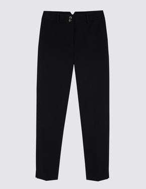 Kadın Siyah Pamuklu Grazer Pantolon