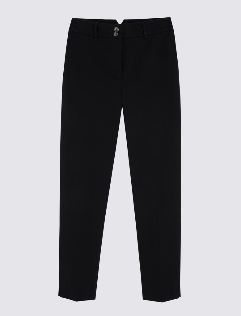 Siyah Pamuklu Grazer Pantolon