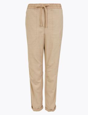 Kadın Kahverengi Tencel™ Pantolon