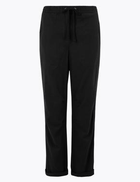 Kadın Siyah Tencel™ Pantolon