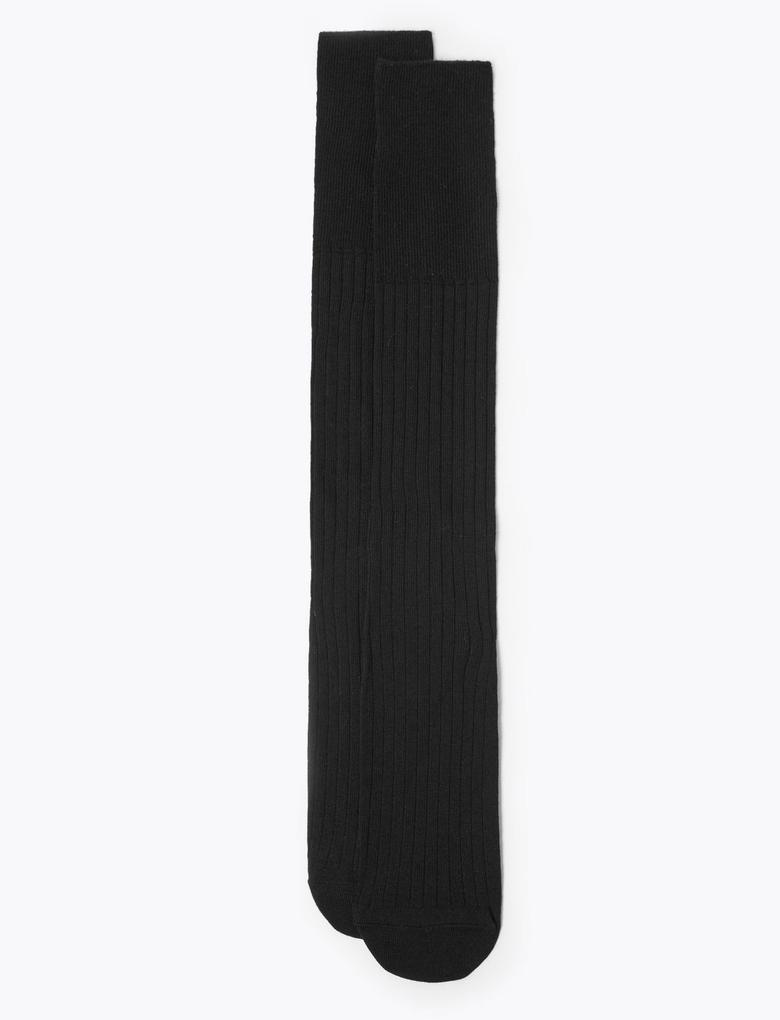 Erkek Siyah 2'li Uzun Çorap Seti