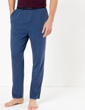 Erkek Mavi Supersoft Supima® Pijama Altı