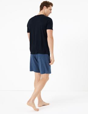 Erkek Mavi Luxury Supersoft Supima® Pijama Altı