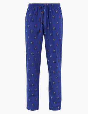Erkek Mavi Desenli Pijama Altı