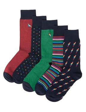 Erkek Yeşil 5'li Cool & Fresh™ Çorap Seti
